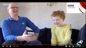 Will Jackson and William show Look East how Playphysio is changing the lives of children with CF in Cambridge, UK.